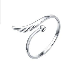 New lady angel wing style adjustable finger ring